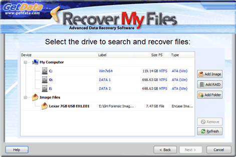 File Recovery with Recover My Files