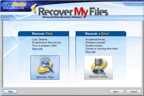 Recover My Files - Select Search