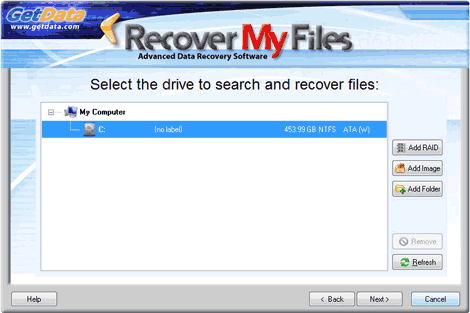 when running a recover files search select and search the drive letter on which the files were lost